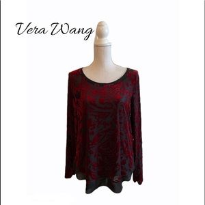 Vera Wang Sheer and Velvet Top
